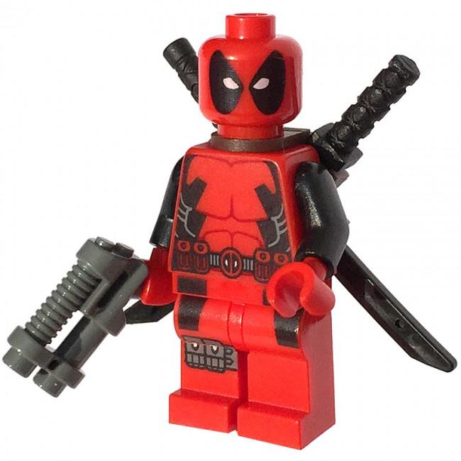 New Genuine LEGO Deadpool Minifig Marvel Super Heroes 6866 ... |Lego Marvel Superheroes Deadpool Set